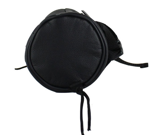 Soft Leather Motorcycle Tool Bag with Pocket Inside Zipper, and Velcro Closure