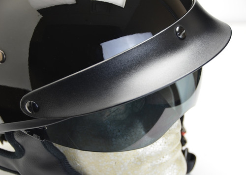 Vega Matte Black Half Helmet  With Shade