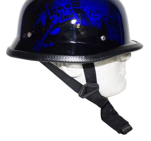 Graphic Blue Skull German Novelty Helmet