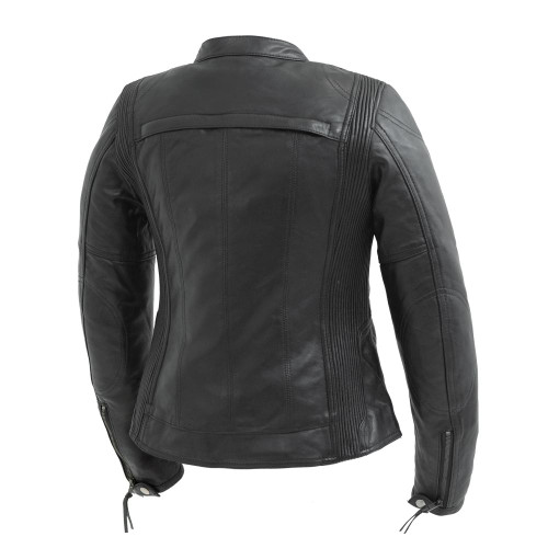 Supastar Ladies Motorcycle Leather Jacket