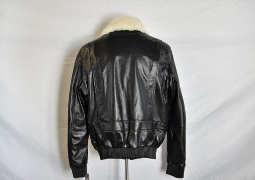 Men leather pilot jackets with military  patches