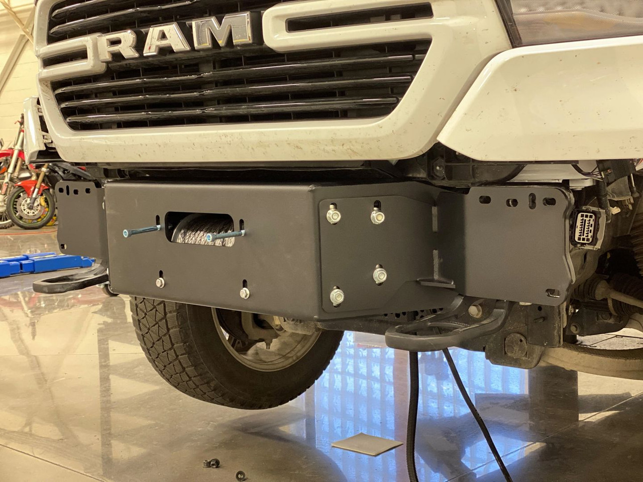 2019  Ram Hidden Winch Mount