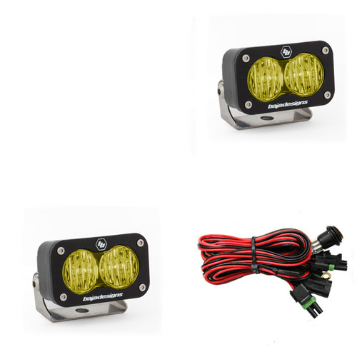 Baja Designs S2 Sport, Pair Wide Cornering, LED, Amber, PAIR