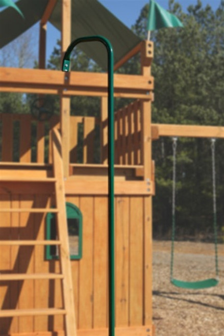 Fireman pole swing set attachment from SwingWorks