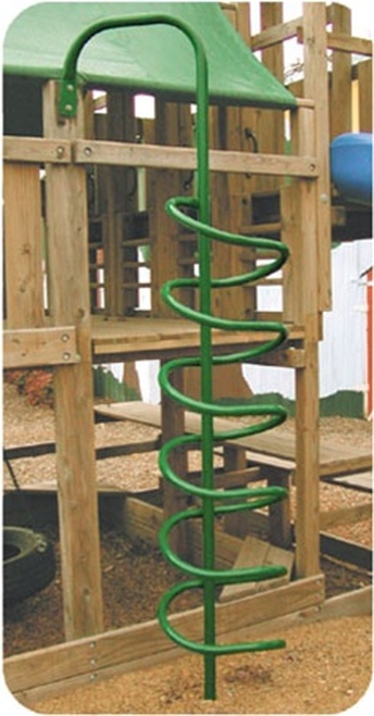 Corkscrew Climber for residential swingsets by SwingWorks.