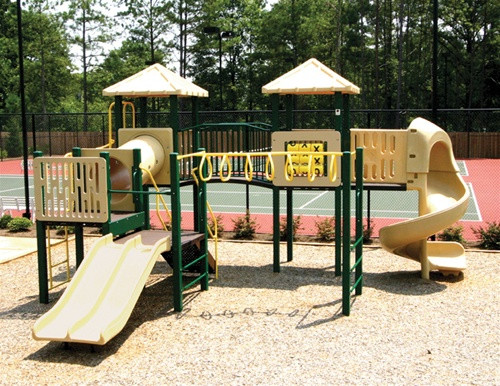 Commercial playground system from Planet Playgrounds and SwingWorks.
