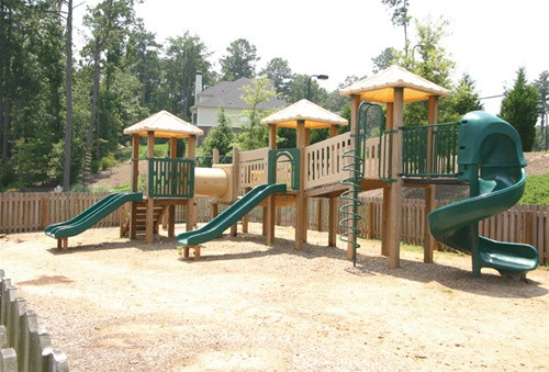 Large commercial playground system from Planet Playgrounds and SwingWorks.