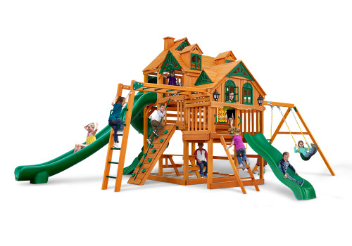 Front view of the Empire Swing Set from SwingWorks.