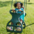 Lifestyle shot of Double Glider Swing with kids from SwingWorks