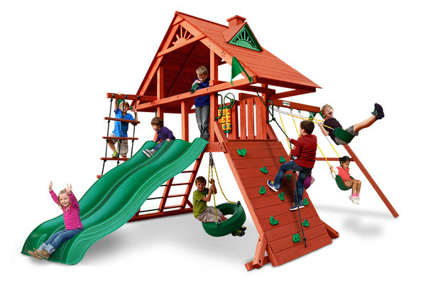 Studio view of Sun Palace Extreme Swing Set by SwingWorks.