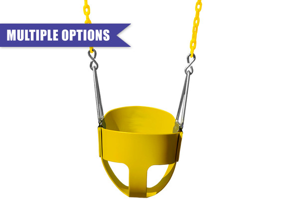 Toddler Full Bucket Swing with Chain
