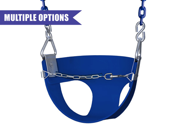Toddler Half Bucket Swing with Chain