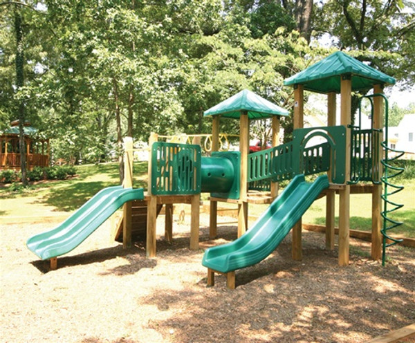 Commercial playground system from Planet Playgrounds and SwingWorks