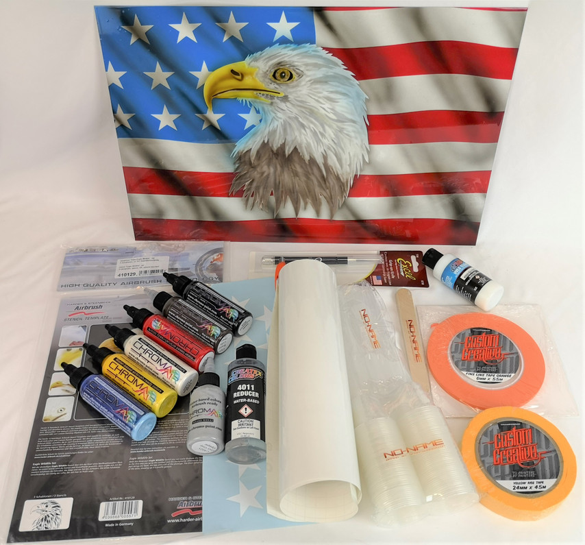 Airbrush tutorial for beginners: American Eagle