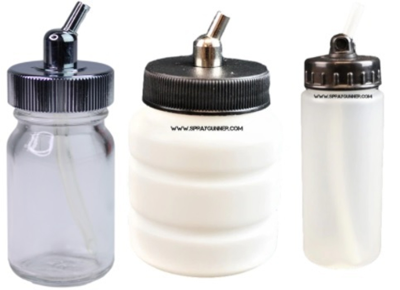 Bottles for siphon feed airbrush