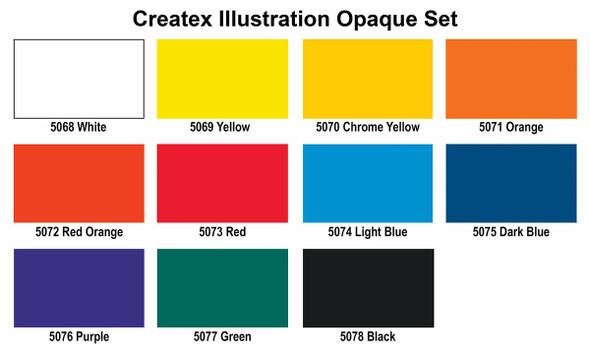 Createx Illustration Colors Opaque Master Set 1oz 5087-01 Createx