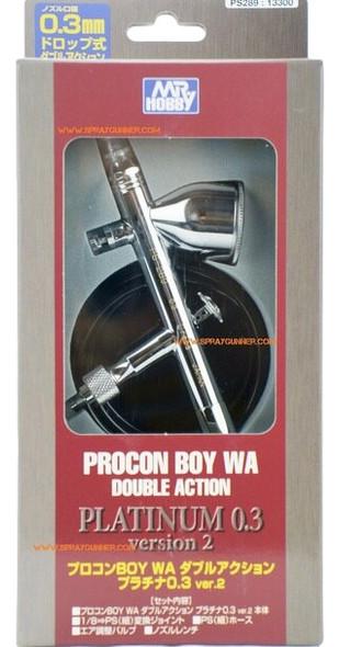 GSI Creos Mr Airbrush Procon Boy PS-289 0.3mm Platinum PS-289 GSI Creos Mr Hobby