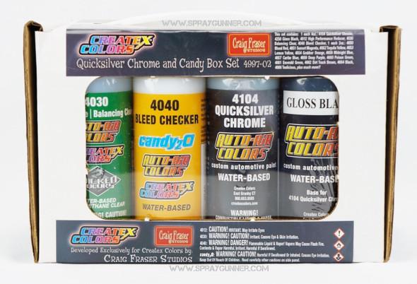 Quicksilver Chrome candy2o Box Set 4997-02 4997-02 Createx