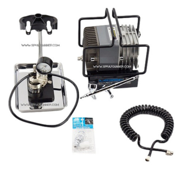 MRLINEAR COMPRESSOR L7 with PS289 airbrush PS309 GSI Creos Mr Hobby