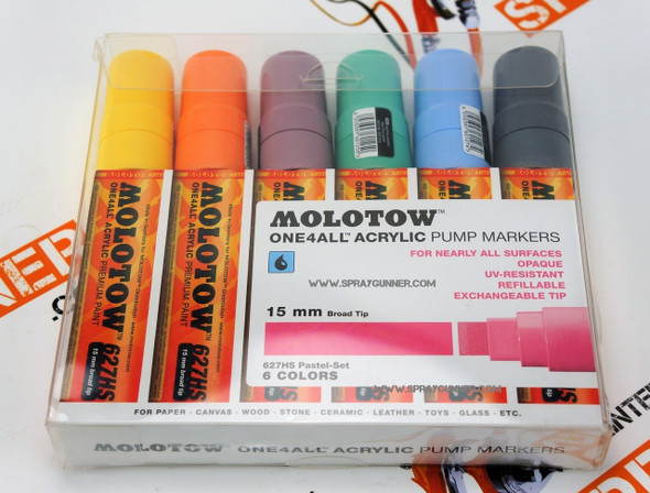 Molotow ONE4ALL 6 Color Pastel Set 15mm 200.461 MOLOTOW