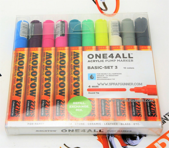 Molotow ONE4ALL 10 Colors Basic Set-3 4mm 200.479 MOLOTOW