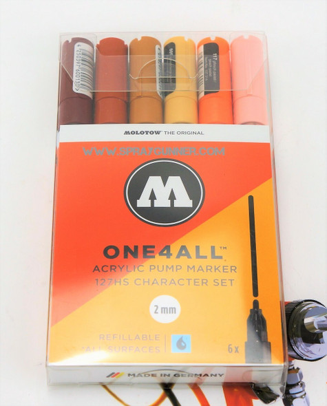 Molotow ONE4ALL 6 Colors Character Set 2mm 200.232 MOLOTOW