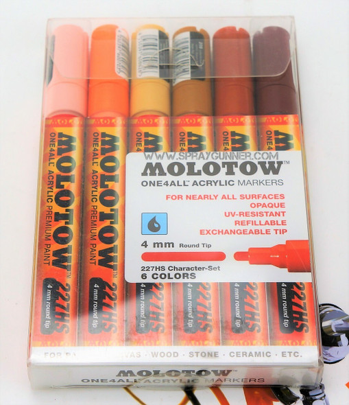 Molotow ONE4ALL 6 Colors Character Set 4mm 200.455 MOLOTOW