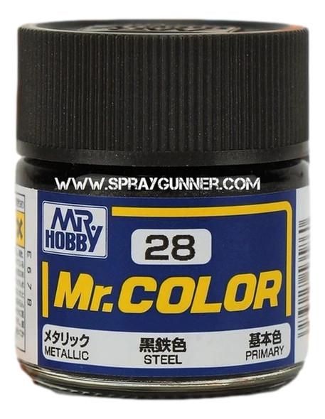 GSI Creos MrColor Model Paint Metallic Steel C28 GSI Creos Mr Hobby