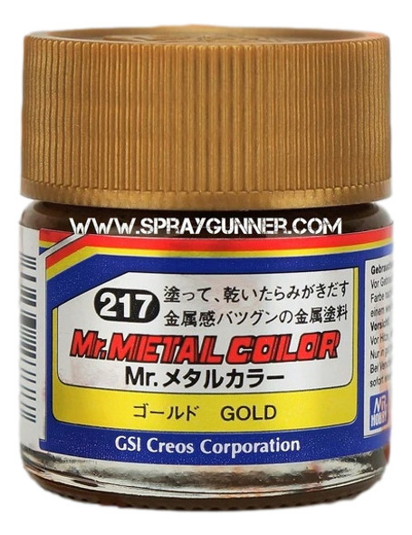 GSI Creos MrMetal Color Model Paint Gold MC217 GSI Creos Mr Hobby