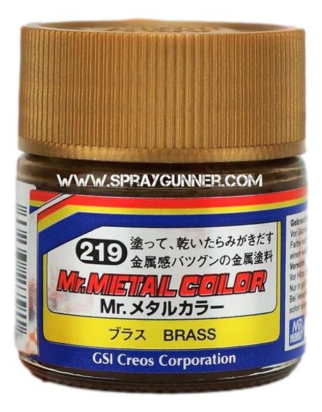 GSI Creos MrMetal Color Model Paint Brass MC219 GSI Creos Mr Hobby