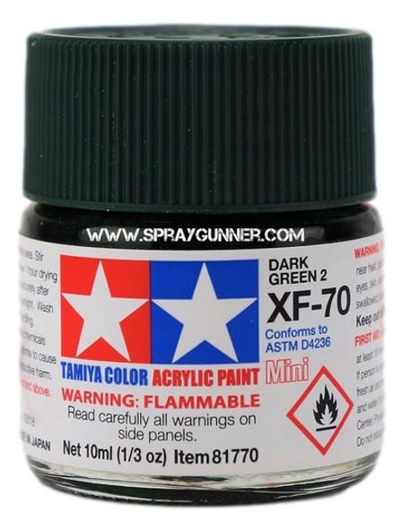 Tamiya Acrylic Model Paints Dark Green 2 XF-70 Tamiya