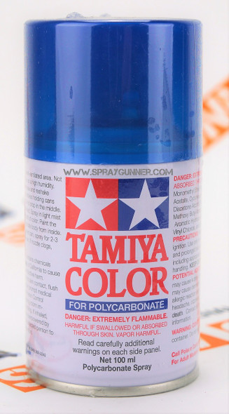 Tamiya Polycarbonate Aerosol Paint: Translucent Light Blue (PS-39)