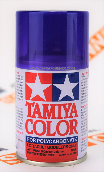 Tamiya Polycarbonate Aerosol Paint: Translucent Purple (PS-45)