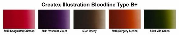 Createx Illustration Bloodline Type B 2oz Set 5083-06 Createx
