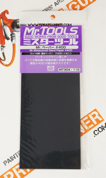 GSI Creos MrTools Waterproof Sand Paper #400 MT304 GSI Creos Mr Hobby