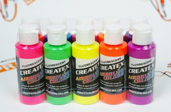 Createx Airbrush Colors Fluorescent set 10 pcs 5817-00 Createx