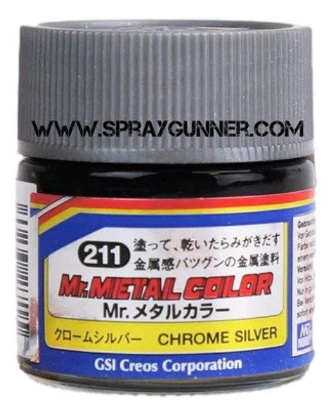 GSI Creos MrMetal Color Model Paint Chrome Silver MC211 GSI Creos Mr Hobby