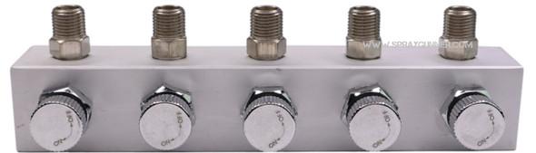 5 Way Adjustable Air Splitter by NO-NAME Brand NN-BD13-5 NO-NAME brand