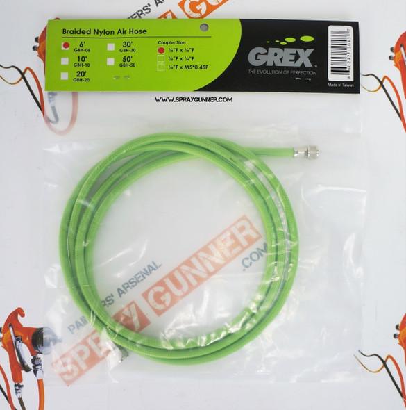 Grex 6 Braided Nylon Air Hose 1/8 Female GBH-06 Grex Airbrush