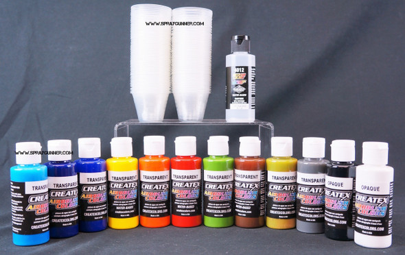 Createx Airbrush Colors Transparent 12 Color Set CX-transparent-12 Createx