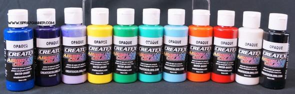 Createx Airbrush Colors Opaque 11 Color Set Createx-11-2oz-opaquecolorchart Createx