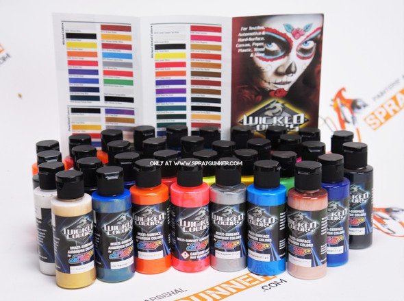Createx Wicked Paints 35 Color Set WICKED-35SET Createx