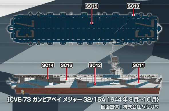 WWII US Navy Warship Camouflage Color Set 1 CS643 GSI Creos Mr Hobby