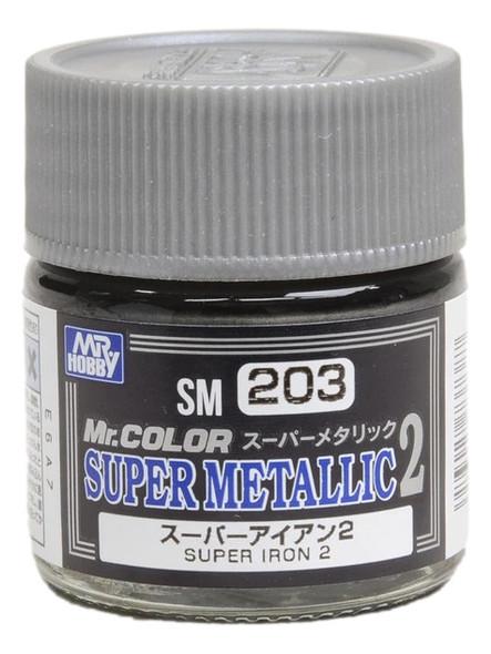GSI Creos Mr Color Paint Super Metallic 2 Super Iron 2 SM203 GSI Creos Mr Hobby