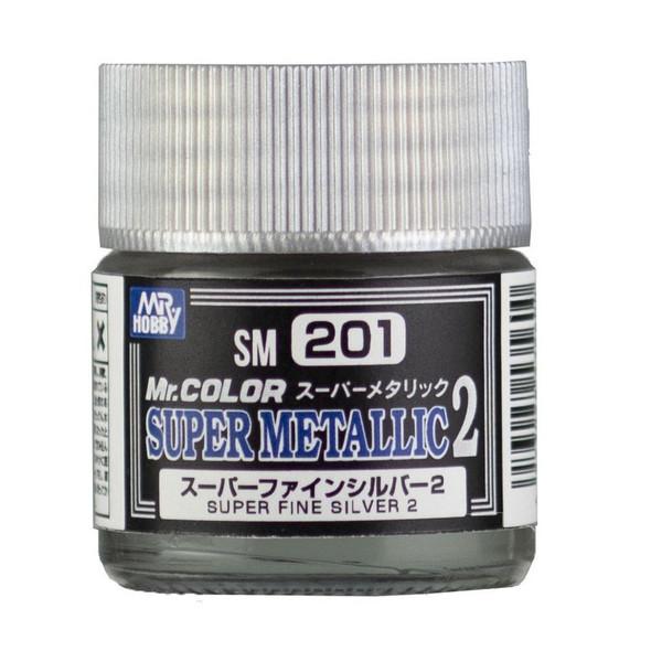 GSI Creos Mr Color Paint Super Metallic 2 Super Fine Silver 2 SM201 GSI Creos Mr Hobby
