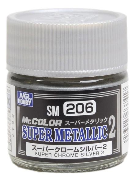 GSI Creos Mr Color Paint Super Metallic 2 Super Chrome Silver 2 SM206 GSI Creos Mr Hobby
