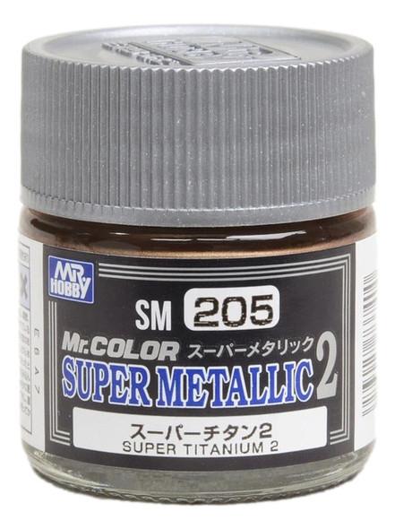 GSI Creos Mr Color Paint Super Metallic 2 Super Titanium 2 SM205 GSI Creos Mr Hobby