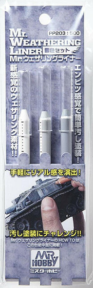 Mr Hobby Weathering Liner Snow color Set PP203 GSI Creos Mr Hobby