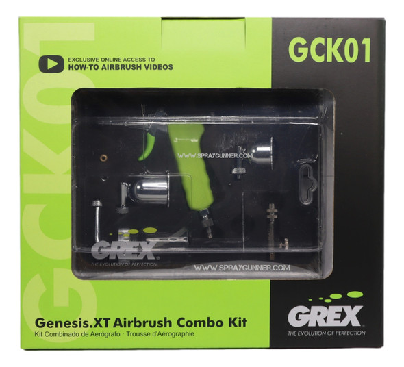 Grex GenesisXT Airbrush Combo Kit GCK01 Grex Airbrush