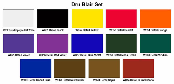 W112 Dru Blair set W112-00 Createx